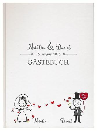 Personalisiertes Gästebuch Für Ihre Hochzeit Hochzeitsbuch Individuell Mit  Eigenen Namen Fotoalbum Mr Mrs Wedding (Motiv 09, 48 Seiten/ 24 Blatt): ...