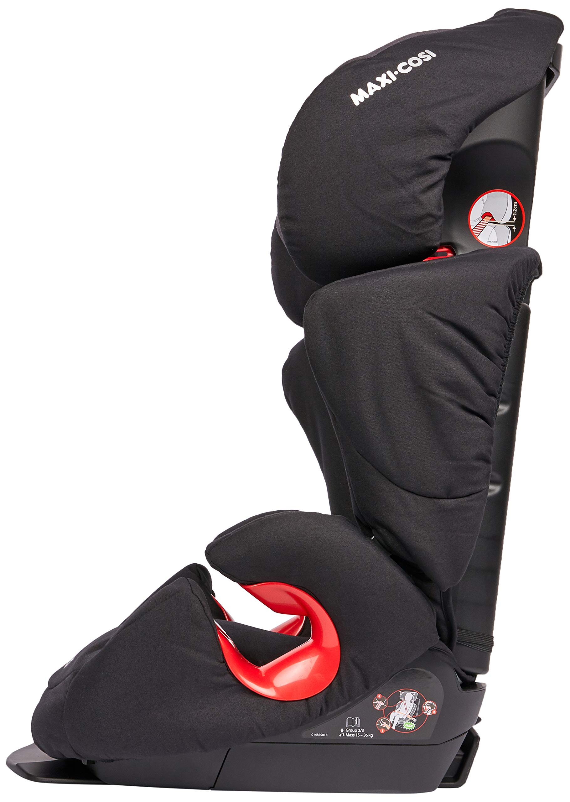 Maxi-Cosi Rodi AirProtect Child Car Seat, Lightweight Highback Booster, 3.5-12 Years, 15-36 kg, Frequency Black Maxi-Cosi Child car seat, suitable from 3.5 to 12 years (15 - 36kg) Easily install this safe car seat with a 3-point seat belt and attach the anchorage point in the head rest through your cars head rest Patented air protect technology in headrest reduces the risk of head and neck injuries up to 20 percent 5