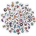 200 Pièces Alphabet Lettres Boutons en Bois, 15mm Rond Boutons pour Enfants, Artisanat Boutons avec 2/4 Trous pour Scrapbooki