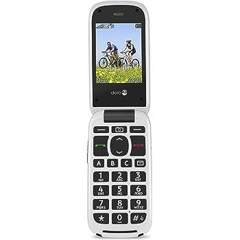 Doro PhoneEasy 613 - Teléfono móvil (320 x 240 Pixeles, MicroSD (TransFlash), 2 MP, GPRS, 900, 1800, 1900 MHz, 3.0) Gris, Color blanco