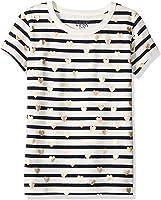 LOOK by crewcuts Mädchen Kurzarm T-Shirt mit Herzen
