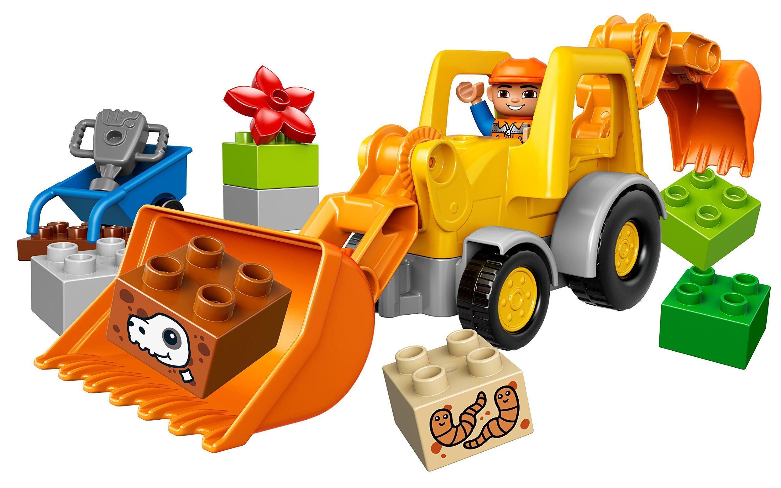 LEGO Duplo Camion e Scavatrice Cingolata con Due Personaggi, Set di Costruzioni per Bambini da 2-5 Anni, Multicolore… 2 spesavip