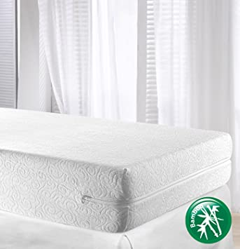 velfont bamboo high quality mattress encasement u0026 protector fully enclosed cover super king size - Mattress Encasement
