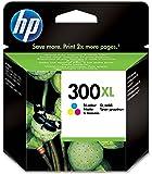 HP 300XL Cartouche d'Encre Trois Couleurs (Cartouche Cyan, Magenta, Jaune) Grande Capacité Authentique (CC644EE)