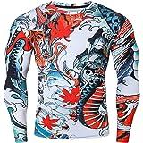 Cody Lundin Camisa de compresión para hombre, camiseta de compresión con estampado 3D, camiseta de manga larga, camiseta de c
