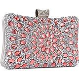 Clocolor Abendtaschen und Clutches für Frauen mit Kristallen, Clutch, Perlen, Strass, Geldbörse, Hochzeit, Party, Handtasche