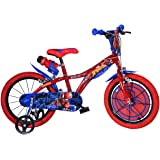 Spiderman Spiderman Kinderfiets voor jongens, 14 inch, originele licentie, kinderfiets met steunwielen, de fiets van Spiderma