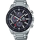 Casio Men's Edifice Stainless Steel Quartz Watch with Stainless-Steel Strap, Silver, 22 (Model: EQS-900DB-1AVCR)