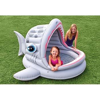 Piscina per bambini gonfiabile con paralume Squalo Intex