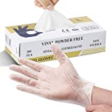 Multi-Purpose Vinyl Gloves, Powder Free, Disposable, Extra Strong - Box of 100 - Size L
