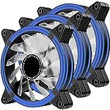 EZDIY-FAB Ventilador LED de 120 mm,Ventilador de Caja de Doble Marco LED para Cajas de PC,silencioso de Alto Flujo de Aire,en