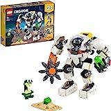 LEGO 31115 Creator LeRobotd'ExtractionSpatiale, Jeu de Construction avec Automate de l'espace, Porte-Cargo et Figurine Ali