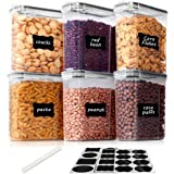 Vtopmart 2.5L boîtes de Conservation Alimentaire sans BPA pour Cuisine Pantry, Ensemble De 6 + 24 Étiquettes, pour Céréales,