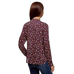 oodji Collection Mujer Blusa Recta de Viscosa