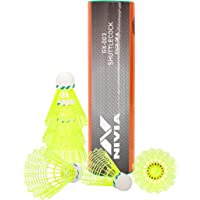 Nivia 663 Nylon Badminton Shuttlecock GX-003 - Others (Yellow)