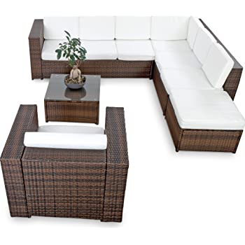 xinro xxl 22tlg polyrattan lounge m bel set gartenm bel g nstig 1x 1er lounge. Black Bedroom Furniture Sets. Home Design Ideas