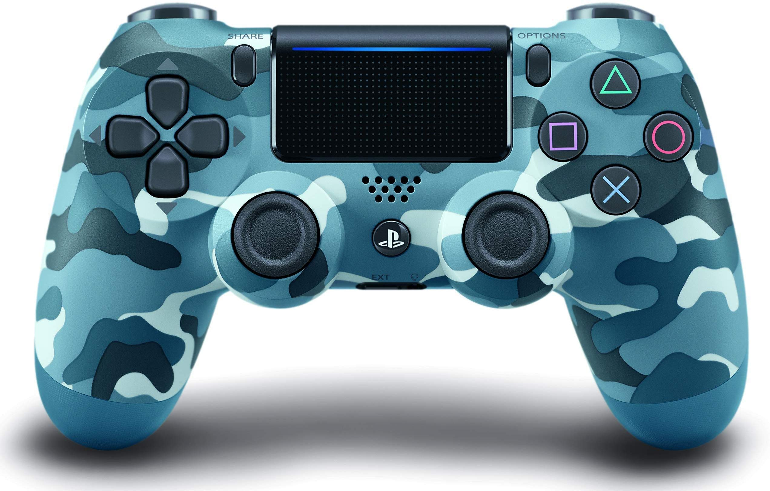 Dualshock 4 Wireless PS4 Controller: Blue Camo for Sony Playstation 4