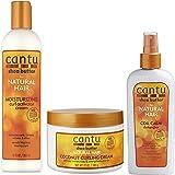 Curl Control Combo - Cantu Moisturizing Curl Activator Cream 355ml, Coconut Curling Cream 340g & Coil Calm Detangler 237ml