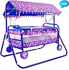 Avani Baby Crib And Cradle 2 In 1 Blue