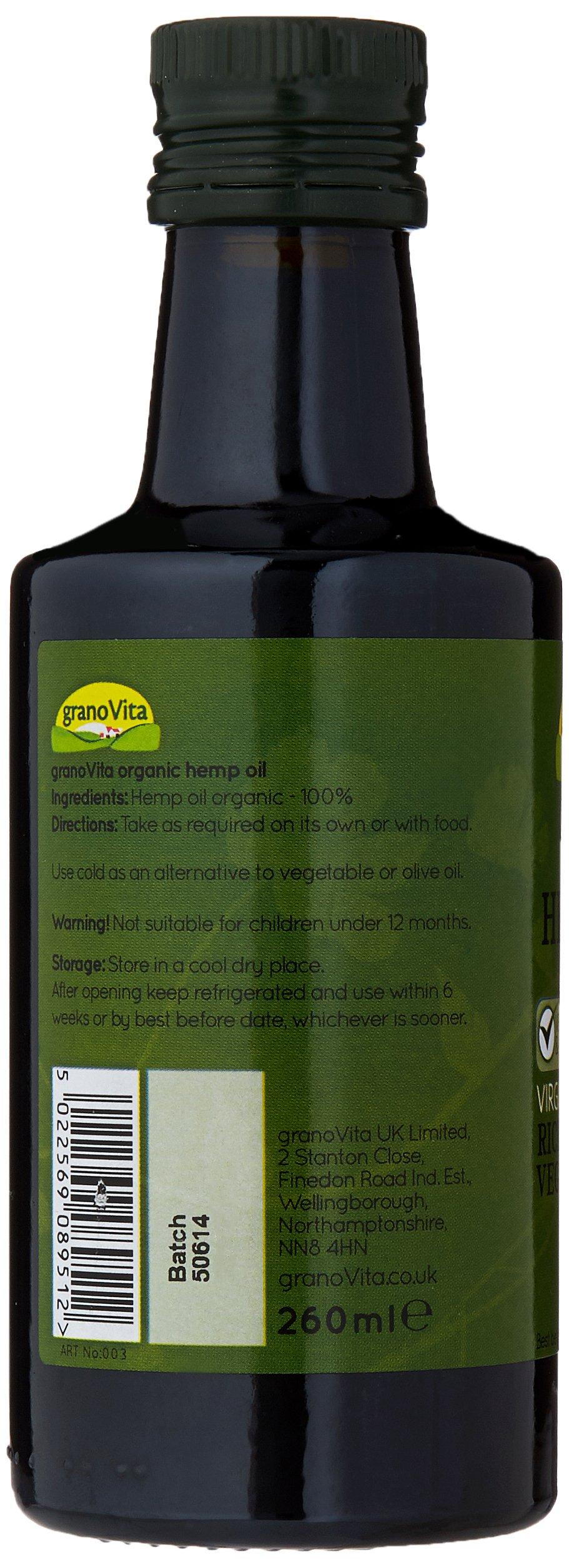 Granovita Hemp Organic Oil 260 ml (Pack of 2)