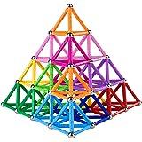Veatree Bloques Magnéticos de Construcción para Niños Palos Magnéticos con No magnético Bolas 178 Piezas Juguete Educativo pa