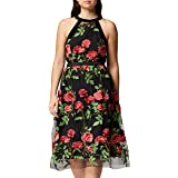Marca Amazon - TRUTH & FABLE Vestido Midi de Flores Mujer