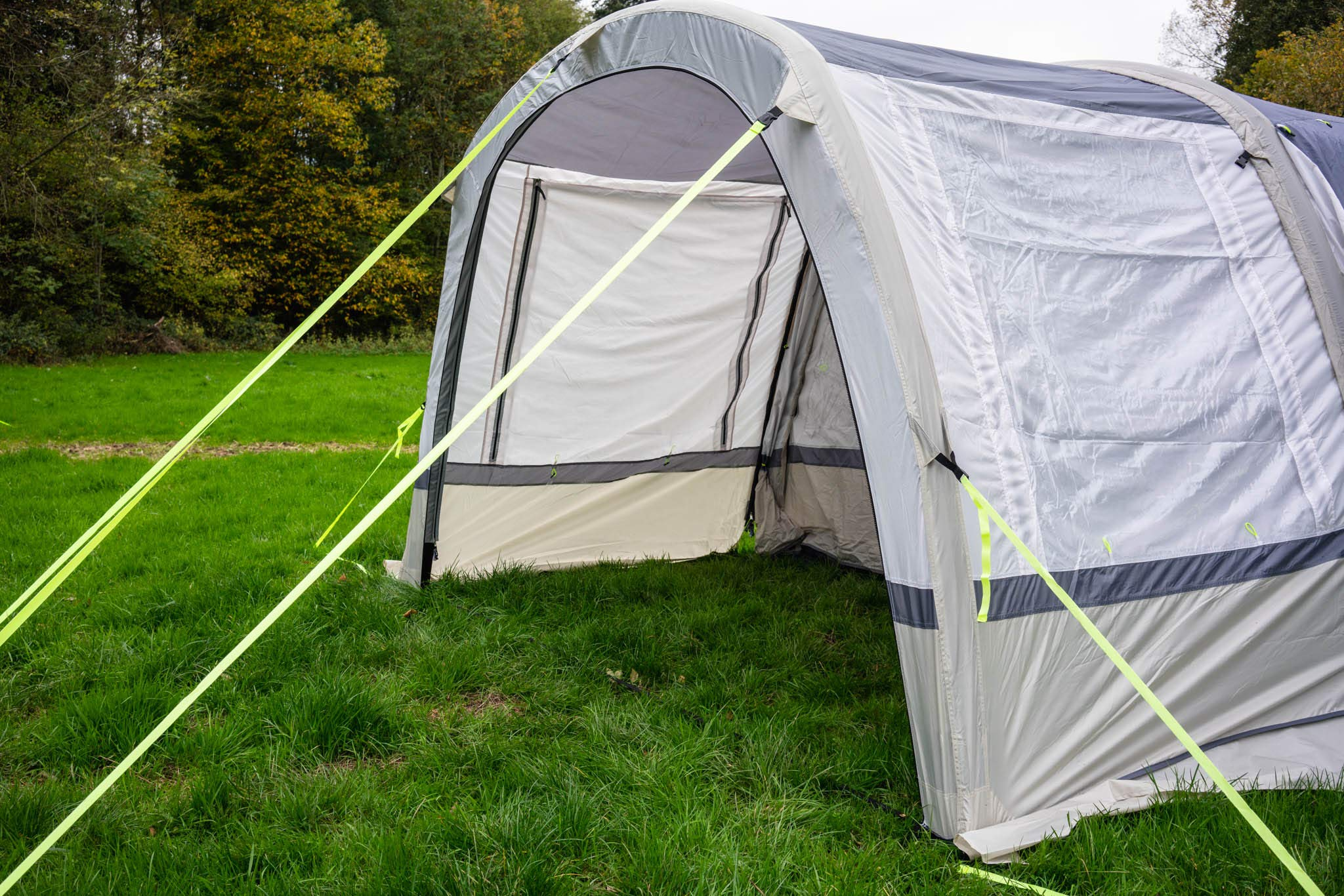 OLPRO Outdoor Leisure Products Cocoon Extension 3.5m x 1.8m Inflatable Drive Away Campervan Awning Porch Extension for Cocoon Breeze Sage Green & Chalk 5