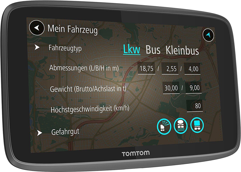 Tomtom-Go-Professional-Navigationsgert-1524-cm-6-Zoll-Lebenslang-Karten-Europa-1-Jahr-Traffic-und-Radarkameras-Freisprechen-ClickGO-Halterung-Schwarz