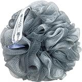 Bodylife Large Exfoliating Bath & Shower Body Puff/Scrunchie/Buffer Grey & White 95g