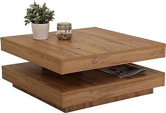 Couchtisch Ben, Holz, Drehbar 360°, 78 x 78 x 34 cm