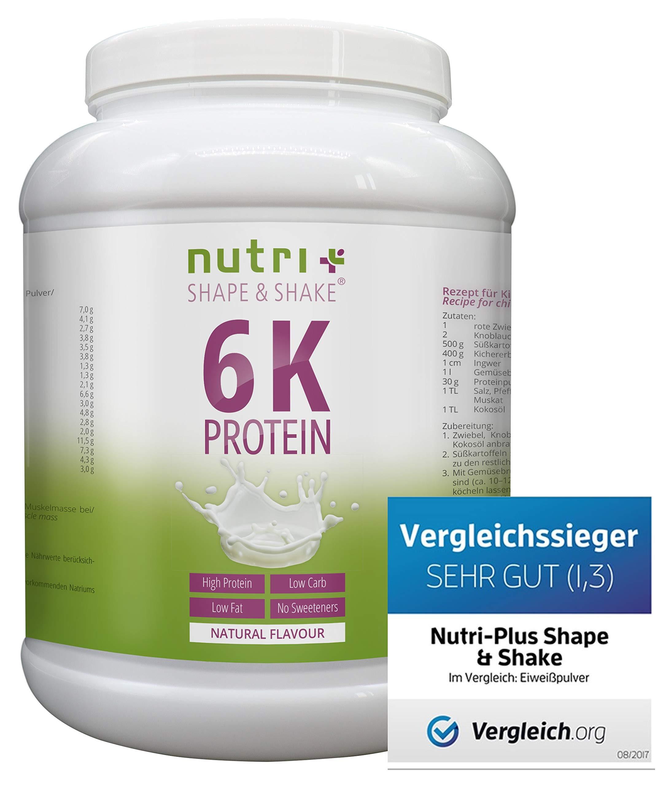 Nutri-Plus Shape & Shake 1kg – Aspartamfreier Eiweißshake – Mit Whey + Casein – Dose inkl. Dosierlöffel
