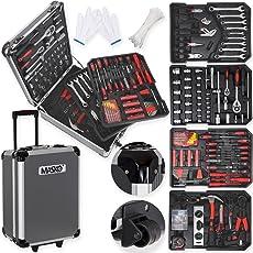 Masko 849 Werkzeugkoffer Werkzeugkasten Werkzeugkiste Werkzeug Trolley ✔ Profi ✔ 849 Teile ✔ Qualitätswerkzeug (Black/Anthrazit)