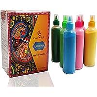 CraftVatika Rangoli Colour Powder Tube Kit Diwali Decoration Items Bottles Tool Floor Art Rang for Home Navratri Pongal…