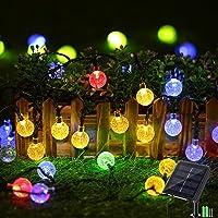 Geemoo 60 LED Globe Solar String Lights, 8 Modes Waterproof Solar Lights Outdoor Garden, Solar Powered Fairy Lights for…