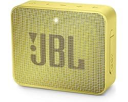 JBL Go 2 Portable Bluetooth Waterproof Speaker (Yellow), JBLGo2Syl