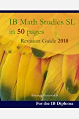 IB Math Studies SL in 50 pages: Revision Guide 2018 (English Edition) Format Kindle