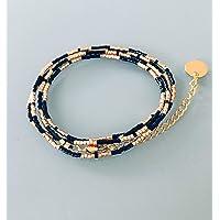 Miyuki Bracciale convertibile collana, bracciale donna MultiRank perline, Bracciale in oro, idea regalo, Bracciale in…