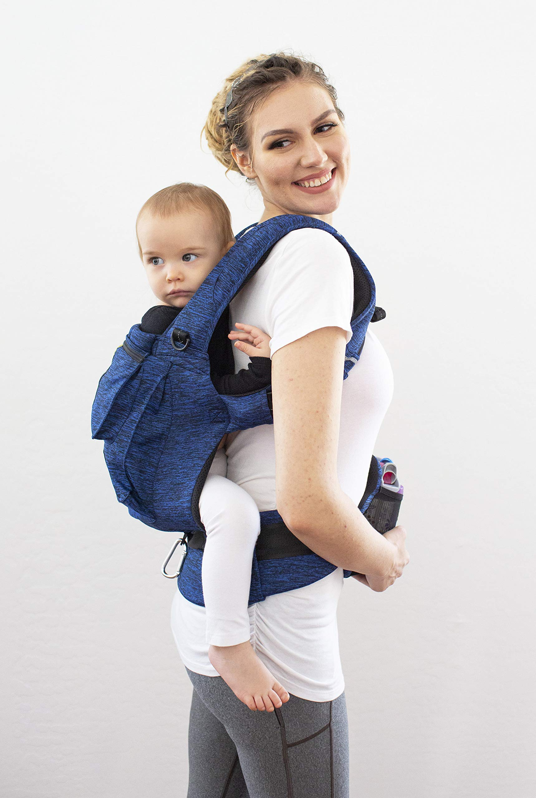 LÍLLÉbaby Complete Pursuit Pro 6-in-1 Baby Carrier Heathered, Sapphire Lillebaby Designed specifically for parents on the go, our pusuit series combines the comfort and functionality of our 6 in 1 design with adventure-ready features to help you show your little one the world Suitable from birth to 4 years, the active pro has a perfect combination of responsive fabric, advanced ergonomic fit, and innovative safety upgrades make it the ideal tool for all-weather exploring Unique líllébaby lumbar support for the wearer, with wide padded waist belt and shoulder straps 3