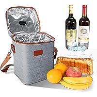 Ventvinal 13L Kühltasche Picknicktasche Lunch Tasche,Multifunktional Oxford Tuch Weinkühltasche für 4 Flaschen,mit…