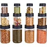Sky Octave Celebration 12 Pcs With Inter-Stackable Lid Storage Pet Container Gift Set For Kitchen ( 320 ml x 4, 650 ml x 4, 1