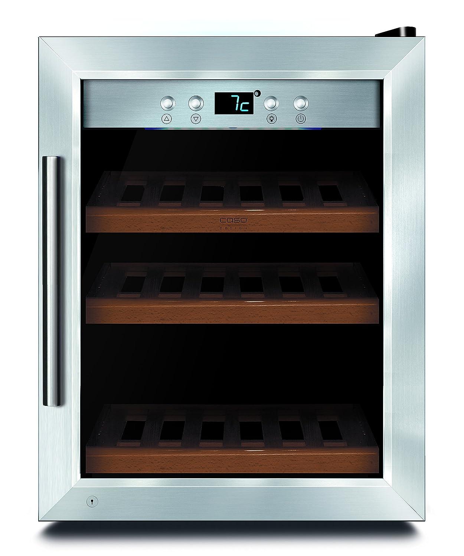 CASO WineSafe 12 black Design Weinkühlschrank für bis zu 12 ...