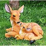 Thedecorshed Deer Two Deer Idol for Garden Decor, Garden Side, Back Garden Idols, Garden Side Animals, Deer Figure, Deer for
