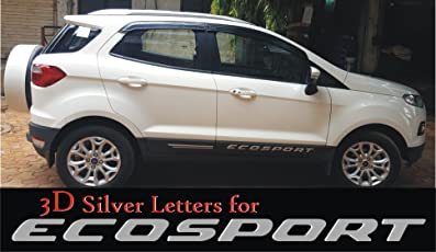 S2S 3D Silver Letter Badge For Ecosport Cars Lettering Badge For Ecosport Both Side Doors