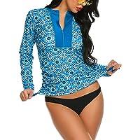 Balancora Rash Guard, costume da bagno da donna, con protezione UV, a maniche lunghe, slim fit, con coulisse, taglie S…