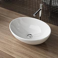 Waschbecken24 DESIGN KERAMIK AUFSATZWASCHBECKEN WASCHSCHALE HANDWASCHBECKEN GÄSTE WC TOP A99