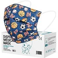 Rousig Kinder Mundschutz Kindermasken 50 Stück 3 Lagig Einwegmasken Masken, CE Zertifizierte Mundschutzmasken-Mundschutz…