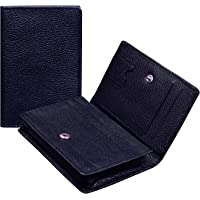 ABYS Genuine Leather Pocket Sized Credit Card Holder||Card Case||Wallet for Men and Women-Blue