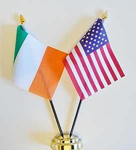25,4/cm Vereinigten Staaten von Amerika /& Russland Freundschaft Tisch Flagge Display 25/cm