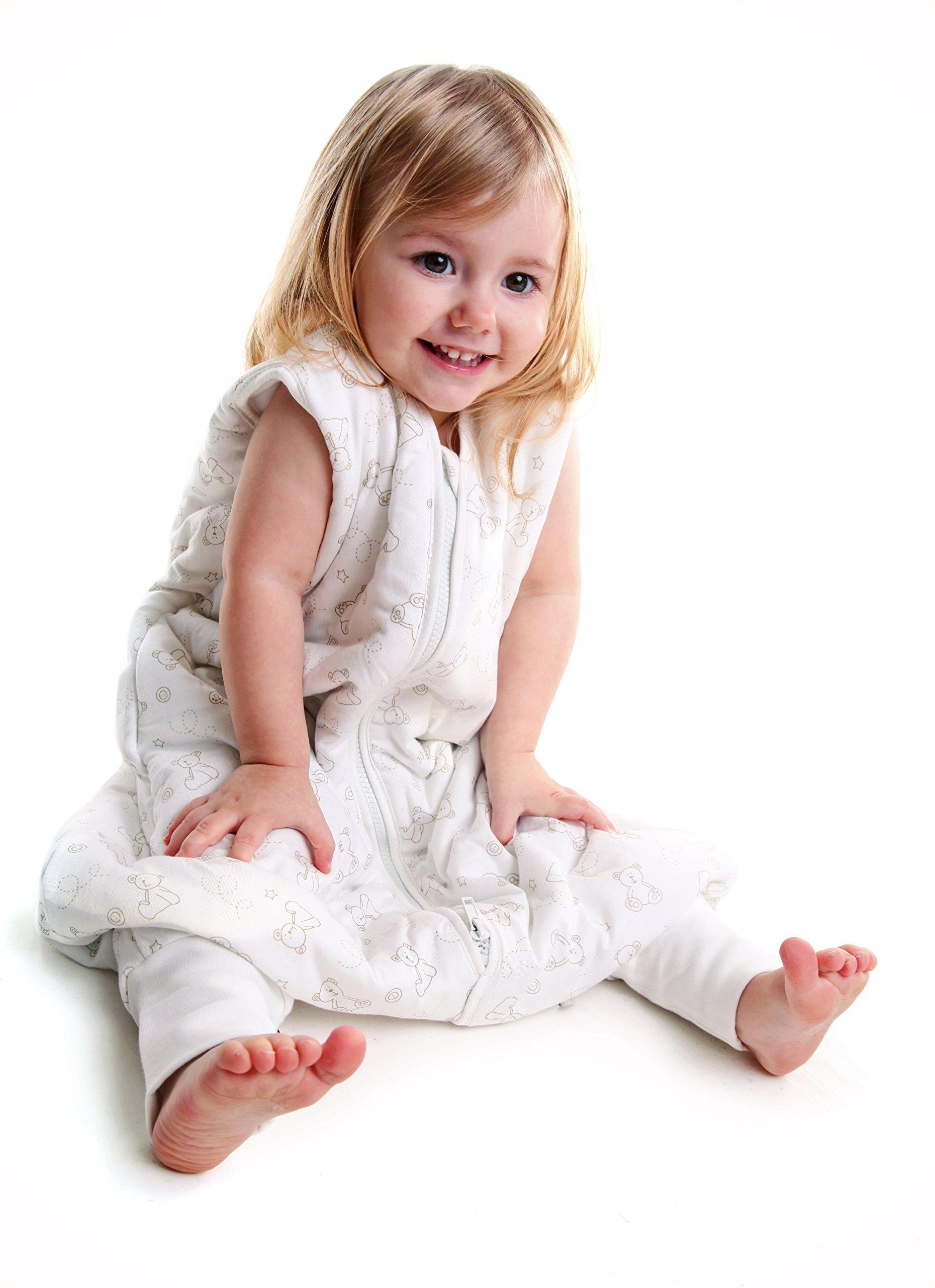 Saco de Dormir con Pies de Verano para Niño Slumbersac aprox. 0.5 Tog – Oso – 5-6 años