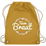 JGA Junggesellinnenabschied - Team Braut Blumenkranz - Turnbeutel & Gym Bag
